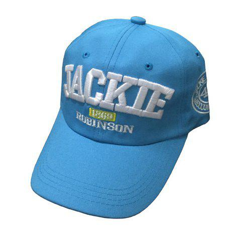 Chic Capital Letters Embroidery Fresh College Style Women's Baseball Cap - BLUE