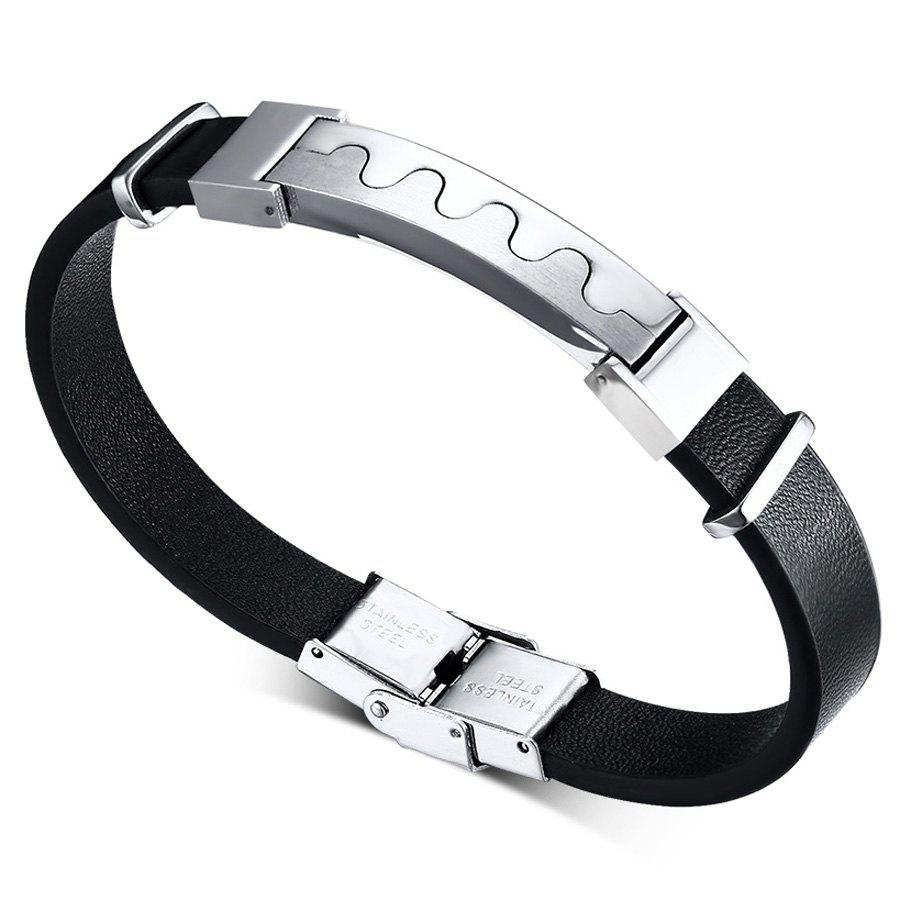 Chic Style Faux Leather Chain Bracelet For Men