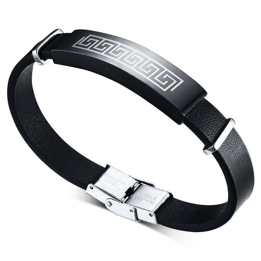 Chic Style Faux Leather Chain Bracelet Jewelry For Men