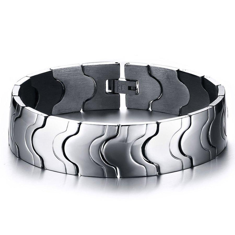 Chic Alloy Chains Jewelry Bracelet For Men - SILVER