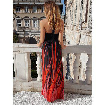 Sexy Halter Neck Sleeveless Ombre Plus Size Women's Prom Dress - 7XL 7XL