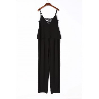 Chic Sleeveless Spaghetti Strap Cut Out Women's Jumpsuit