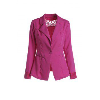 Stylish Lapel Long Sleeve Hollow Out Slimming Women's Blazer