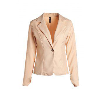 Stylish Lapel Long Sleeve Solid Color Slimming Women's Blazer