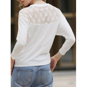 Dolman Long Sleeve Lace Loose Cotton Blouse
