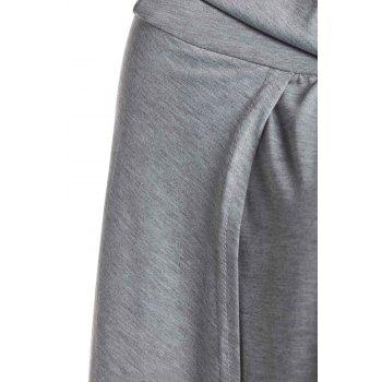 Casual High Slit Solid Color Women's Skirt - M M