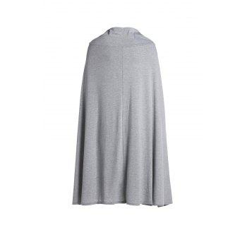 Casual High Slit Solid Color Women's Skirt - GRAY M