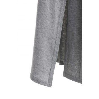 Casual High Slit Solid Color Women's Skirt - GRAY GRAY