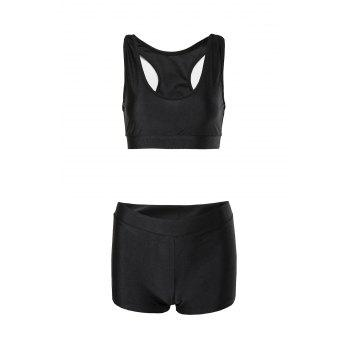Sexy Sleeveless Two-Piece Solid Color Women's Swimsuit