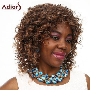 Women's Adiors High Temperature Fiber Curly Wig - BROWN