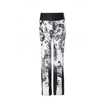 Casual Low-Waisted Loose-Fitting Printed Women's Pants