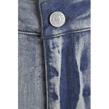 Stylish Low-Waisted Hollow Out Skinny Crochet Flower Women's Jeans - L L