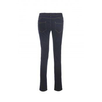 Stylish Mid-Waisted Spliced Pocket Design Slimming Women's Jeans - XL XL