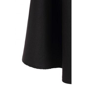 Noble Solid Color High Waist A-Line Ball Skirt For Women - 2XL 2XL