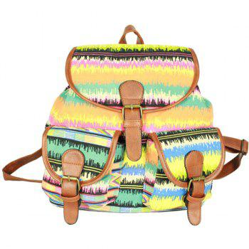 Casual Print and Canvas Design Women's Satchel