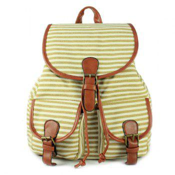 Casual Buckles and Striped Design Women's Satchel