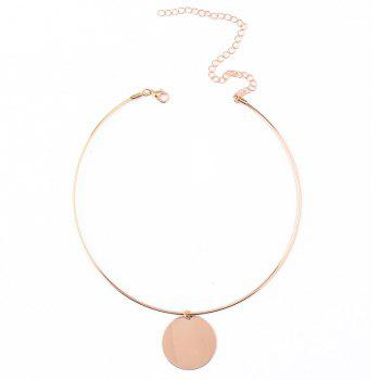 Adjustable Round Necklace - GOLDEN
