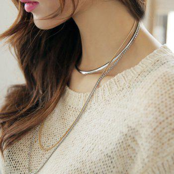 Alloy Multilayered Necklace - SILVER