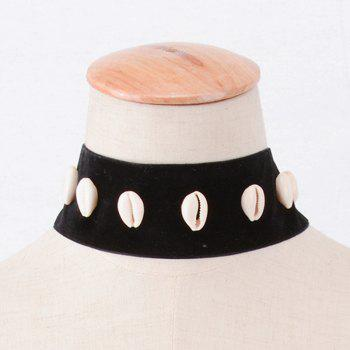 Shell Decorated Chokers Necklace - BLACK