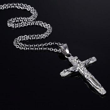 Crucifix Pendant Necklace - SILVER