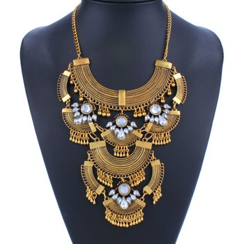 Alloy Water Drop Necklace - GOLDEN