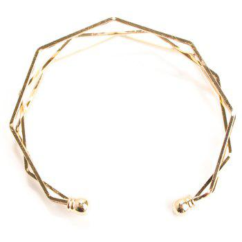 Geometric Multilayered Polygon Stereoscopic Bracelet - CHAMPAGNE