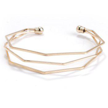 Geometric Multilayered Polygon Stereoscopic Bracelet
