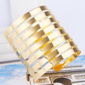 Hollow Out Cuff Bracelet - GOLDEN