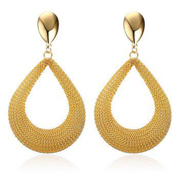 Pair of Alloy Water Drop Earrings
