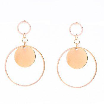 Pair of Round Circle Earrings