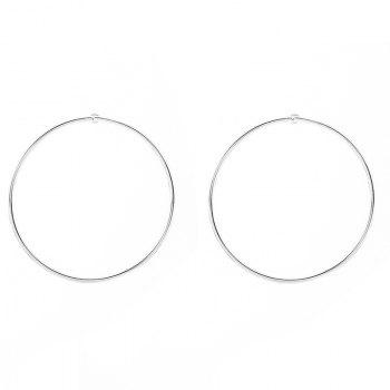 Pair of Circle Stud Earrings