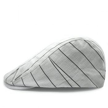 Fashion Stripe Pattern Britain Gentleman Style Sun-Resistant Outdoor Golf Beret