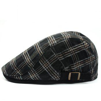 Fashion Plaid Pattern Sun-Resistant Outdoor Beret
