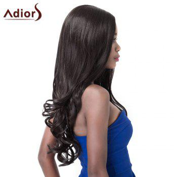 Stylish High Temperature Fiber Adiors Curly Long Women's Wig - BLACK