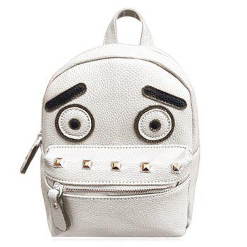 Stylish Hit Colour and Rivets Design Women's Backpack