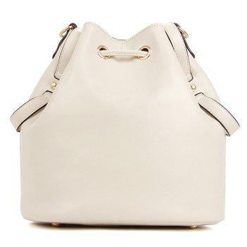 Stylish Metal and Tassel Design Women's Tote Bag - OFF WHITE