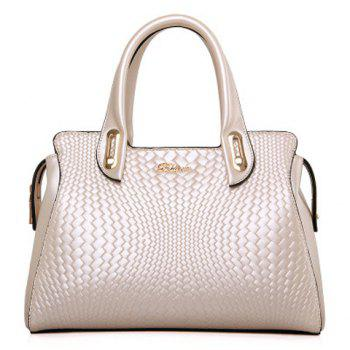 Elegant Letter and Embossing Design Women's Tote Bag