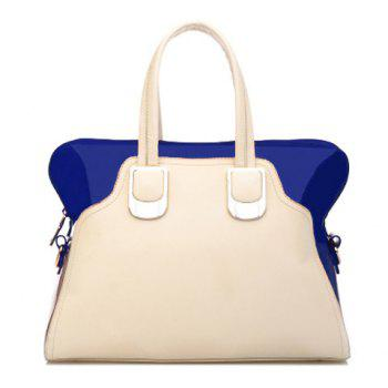 Graceful Color Block and Metal Design Women's Tote Bag