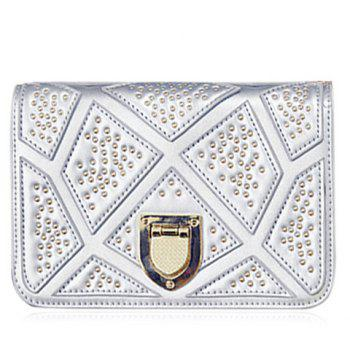 Fashionable Chain and Metal Design Women's Crossbody Bag