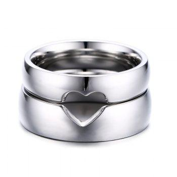 Pair of Heart Shape Hollow Out Rings