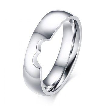 Pair of Heart Shape Hollow Out Rings - SILVER