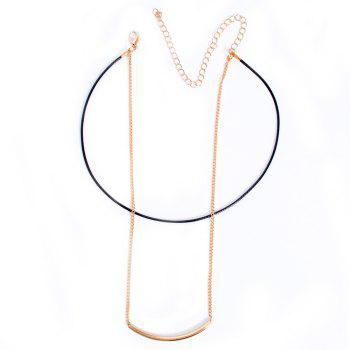 Double Layered Geometric Choker Necklace