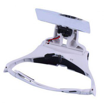High Quality Eyeglasses Bracket Interchangeable Magnifier with 2 LED For Reading Jeweler Watch Repairing - WHITE