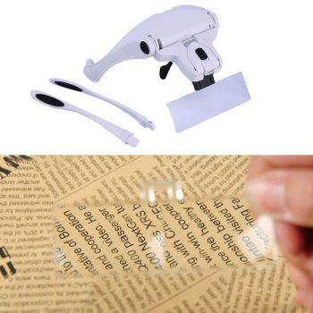 High Quality Eyeglasses Bracket Interchangeable Magnifier with 2 LED For Reading Jeweler Watch Repairing