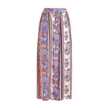 Stylish High Waisted Vintage Print Women's Maxi Skirt
