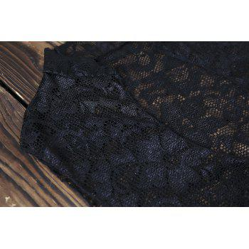 Sexy Lace Crop Top and High Waisted Shorts Women's Suit - 2XL 2XL