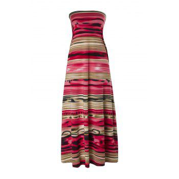 Printed Vintage Tube Dress