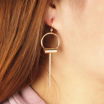 Paire de Tassel Cercle Hollowed Boucles d'oreilles - Or