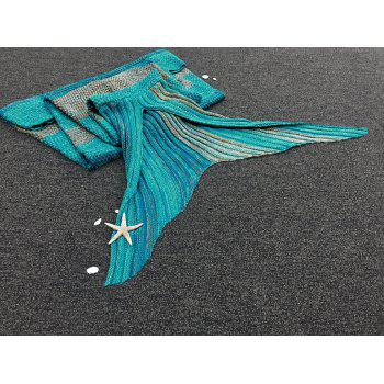 Stylish Stripe Knitted Mermaid Tail Design Blankets For Adults -  COLORMIX