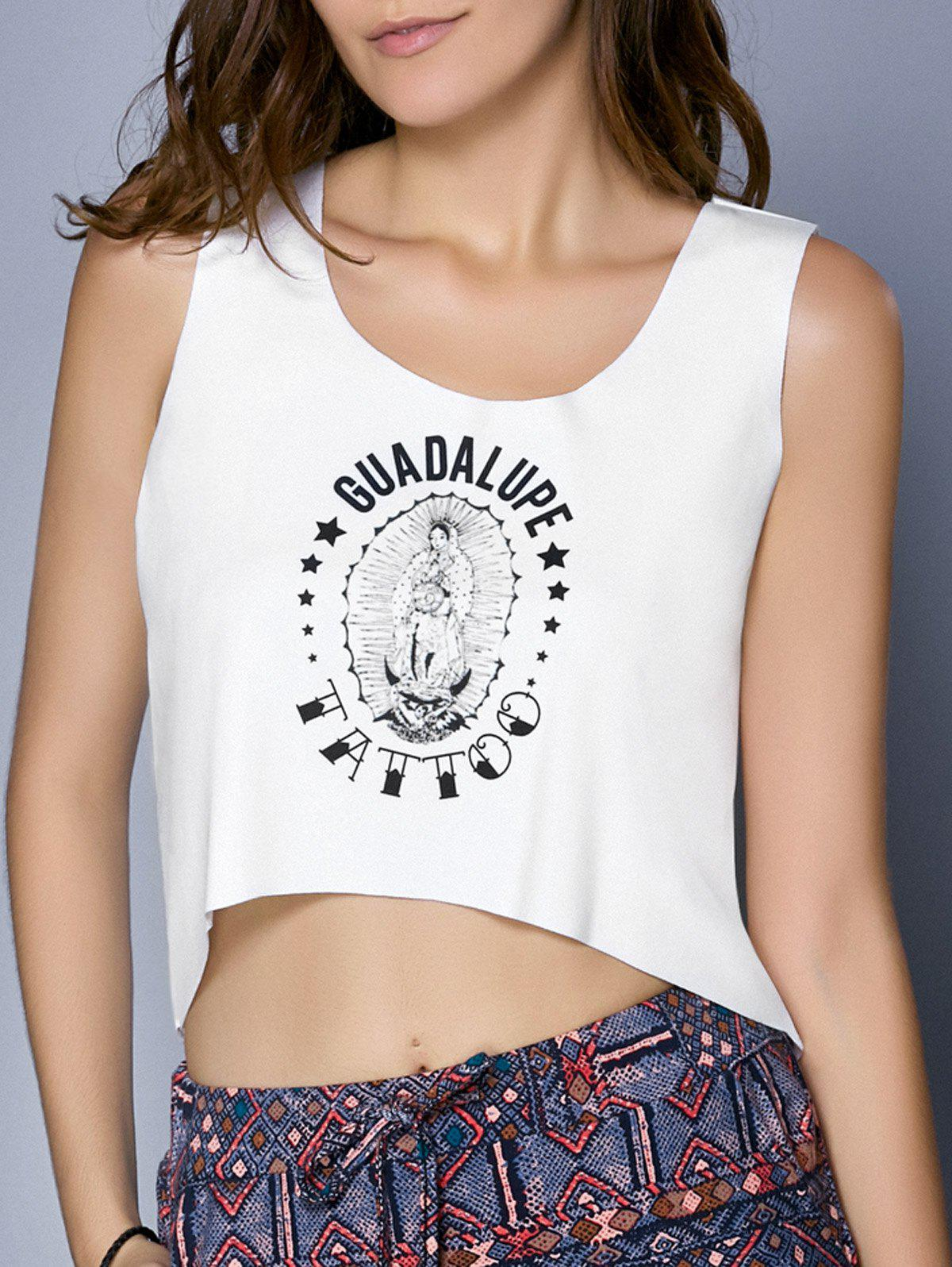 Graphic High Low Tank Top love graphic tank top